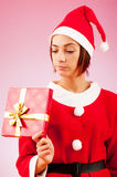 Attractive woman santa Stock Image