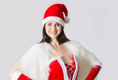 Attractive woman in Santa Clause costume portrait Stock Image