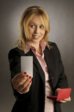 The attractive woman in shirt Royalty Free Stock Photos