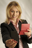 The attractive woman in shirt Royalty Free Stock Images