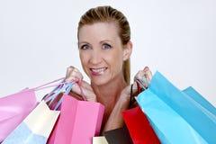 Attractive Woman Shopping Stock Photos