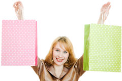 Attractive woman with shopping bags Royalty Free Stock Photo