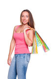 Attractive woman with shopping bags Stock Image