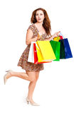 Attractive woman with shopping bags Royalty Free Stock Image