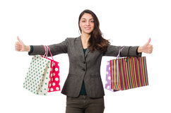 Attractive woman with shopping bags Royalty Free Stock Photography