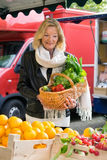 Attractive woman shopping for fresh produce Stock Images