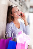 Attractive woman shopping Royalty Free Stock Images