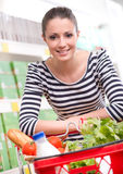 Attractive woman shopping at store Royalty Free Stock Image
