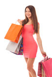 Attractive woman shopping Stock Photography