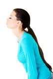 Attractive woman side view. Stock Images
