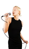 Attractive woman singing Stock Photography