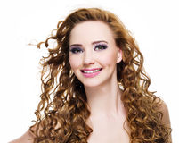 Attractive woman smiling Royalty Free Stock Photography