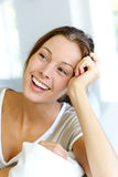 Attractive woman smiling Royalty Free Stock Photos