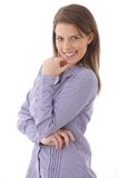 Attractive woman smiling confidently Royalty Free Stock Image