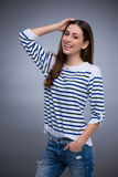 Attractive woman smiling Stock Photo