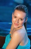 Attractive woman in spa Stock Image