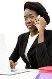 Attractive Woman Speaking on the Phone Royalty Free Stock Images
