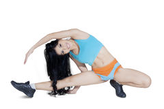Attractive woman stretching her body Royalty Free Stock Image