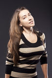 Attractive woman in studio. Royalty Free Stock Photography