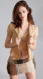 Attractive Woman in Stylish Outfit Royalty Free Stock Photos
