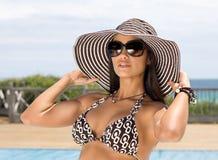Attractive Woman Sunbathing Stock Photo