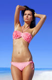 Attractive woman sunbathing Royalty Free Stock Photos