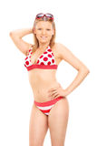 Attractive woman in a swimsuit posing Royalty Free Stock Photography