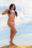 Attractive woman in the swimsuit Stock Images