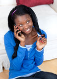 Attractive woman talking on phone Royalty Free Stock Photography