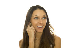 Attractive woman talking on the phone Royalty Free Stock Photography