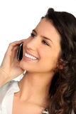 Attractive woman talking on phone Royalty Free Stock Photo