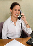 Attractive woman on the telephone Stock Photos