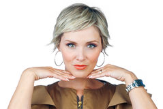 Attractive woman thinking Royalty Free Stock Photos