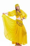 Attractive woman in traditional costume gypsy Stock Photography