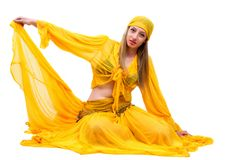 Attractive woman in traditional costume gypsy Royalty Free Stock Images