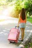 Attractive woman traveling Royalty Free Stock Photo