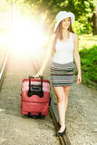Attractive woman traveling Royalty Free Stock Photography