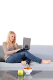 Attractive woman using notebook computer Royalty Free Stock Photo