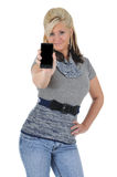 Attractive Woman Using a Smart Phone 03 Stock Photo