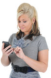Attractive Woman Using a Smart Phone 04 Stock Photo