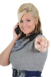 Attractive Woman Using a Smart Phone 05 Royalty Free Stock Image