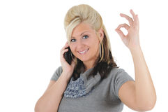 Attractive Woman Using a Smart Phone 07 Stock Images