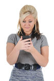 Attractive Woman Using a Smart Phone 08 Stock Photo