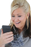 Attractive Woman Using a Smart Phone 10 Royalty Free Stock Photos
