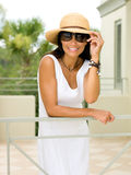 Attractive Woman on Vacations Royalty Free Stock Photography