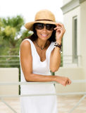 Attractive Woman on Vacations Royalty Free Stock Photos