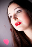 Attractive woman on Valentine's day Royalty Free Stock Photos