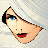 Attractive woman vector illustration. Stock Photography