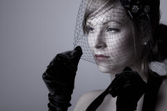 Attractive Woman in Veil Royalty Free Stock Image