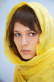 Attractive woman with veil Stock Photos